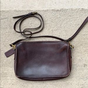 Vintage Coach wristlet clutch crossbody bag